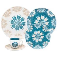 Aparelho de Jantar Redondo de Cerâmica 20 peças - Coup Etnia Oxford Porcelanas
