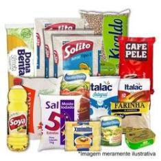 Imagem de Cesta Básica de Alimentos Completa - 17 Itens