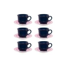 Imagem de Conjunto de Xícara de Chá com Pires 06 Peças Oxford Hana