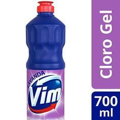 Imagem de Desinfetante Multiuso Cloro Gel Lavanda Vim Frasco 700ml, Vim