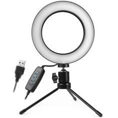 Imagem de Iluminador De Led Com Tripe Ring Light Usb 16cm