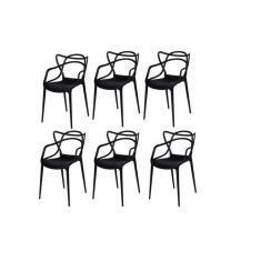 Imagem de Kit com 6 Cadeiras Allegra Polipropileno Empilhável