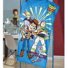 Imagem de Toalha Banho veludo 70 x 1,40 infantil Toy Story 4 Dohler
