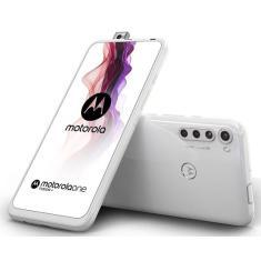 Smartphone Motorola Motorola One Fusion Plus XT2067-2 128GB Câmera Quádrupla Qualcomm Snapdragon 730 2 Chips Android 10