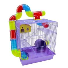 Imagem de Gaiola Para Hamster Tubo Labirinto Colorido Topolino Sírio