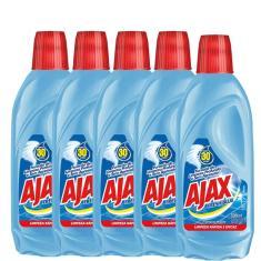 Kit com 5 Limpador Diluível Ajax Fresh Blue 500ml Cada
