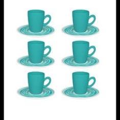 Imagem de Conjunto 6 Xícaras Com Pires De Café Expresso - Café Arte - Oxford Porcelanas