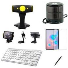 """Imagem de Kit Escola para Samsung Galaxy Tab S7 T870/T875 11"""" Suporte/Can/Pel/Teclado/Mini Speaker"""