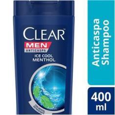 Shampoo Anticaspa Clear Men Ice Cool Menthol Leve 400ml Pague 330ml