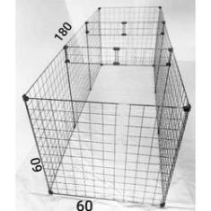 Cercado para Filhotes Cachorro Pequeno Porte - Telas Aramadas - 60 x 60 x 180 com Reforços