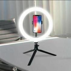 """Imagem de Luz Iluminador Ring Light Led 8"""" Com Tripé E Suporte Para Celular Luz Blogueira"""