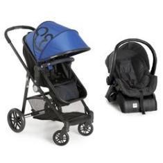 Imagem de Carrinho De Bebê Gero Com Bebê Conforto Base  Galzerano