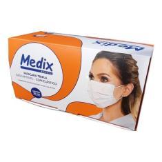 Imagem de Máscara Tripla Descartável Medix c/ elástico - caixa c/ 50 unidades