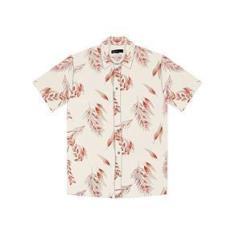 Imagem de Camisa Masculina Estampa Tropical Rovitex Bege