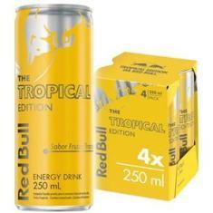 Imagem de Energético Red Bull Energy Drink, Tropical, 250 ml (4 latas)
