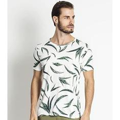 Imagem de Camiseta Masculina Estampada Rovitex Bege GG