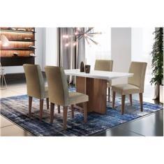 Imagem de Sala de jantar Olimpia - 1200 TP. MDF/LAQ. C/4 cadeiras