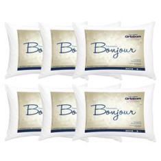 Imagem de Travesseiros Ortobom Bonjour em Fibra Siliconizada 50 x 70 cm s - 6 Unidades