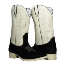 Imagem de Bota Texana Pro White Sola Marfim Bico Quadrado