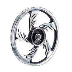 Imagem de Roda Aluminio Dianteira Temco Orion Crom/pto Cg 150 Esd 04 A 13 (sem Rolamento E Buchas - Item Sem Par)