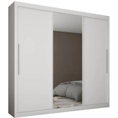 Guarda-Roupa Casal 3 Portas 4 Gavetas com Espelho Royale Gelius Móveis