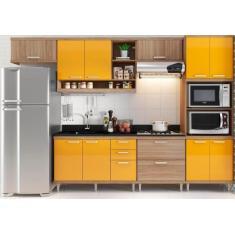 Imagem de Cozinha Completa 5 Gavetas 10 Portas para Cooktop sem Tampo MM-CZSICI03 Multimóveis