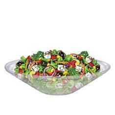 Imagem de Saladeira de Vidro Redonda 28cm Ruvolo Fruteira de Mesa Gourmet Reta