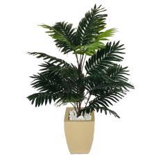 Imagem de Planta Artificial Palmeira Areca Com Vaso Bege