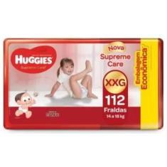 Fralda Huggies Turma da Mônica Supreme Care Tamanho XXG Econômica 112 Unidades Peso Indicado 14 - 18kg