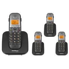 Telefone sem Fio Intelbras com 3 Ramais TS5120