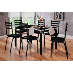 Imagem de Conjunto de Mesa de Cozinha com 6 Lugares Malva Courvin