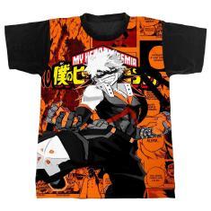 Imagem de Camiseta - My Hero Academia - Katsuki Bakugou - Fundo Laranja (246)