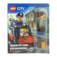 Imagem de Livro Infantil Lego City Assalto Com Escavadeira Happy Books