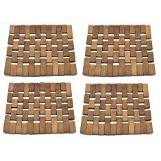 Imagem de Kit 4 Descanso De Panela Travessa Bambu 18Cm - Wincy