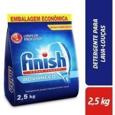 Detergente em Pó Para Máquina Lava Louças Finish Advanced 2,5kg para Brastemp Electrolux LG Samsung