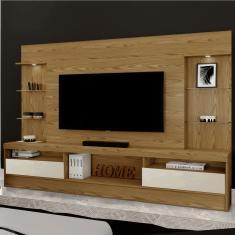 Imagem de Estante Home para TV até 70 Polegadas 2 Portas Amsterdã New Mavaular Damasco Soft/Off - By Mobille