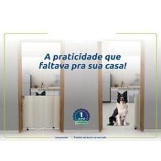 Portão Sanfonado Cercado Grade para porta Proteção em PVC para Criança Bebê Pets Cães 65cm A 76cm