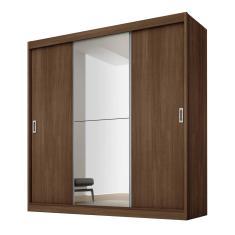 Guarda-Roupa Casal 3 Portas 4 Gavetas com Espelho Flórida Plus 1E Fama