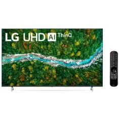 """Smart TV LED 70"""" LG ThinQ AI 4K HDR 70UP7750PSB"""