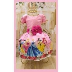 Imagem de Vestido Infantil tema Princesas novo