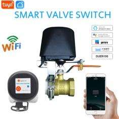 Imagem de Tuya-controlador de válvula inteligente para gasoduto de água, wi-fi, desligamento automático,