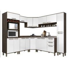 Cozinha Completa 2 Gavetas 16 Portas para Micro-ondas / Forno Sara Luciane Móveis