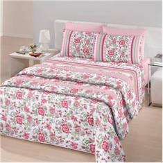 Imagem de Jogo de cama solteiro linha Royal Plus Duplo 100% algodão estampa Yara na cor  - Santista