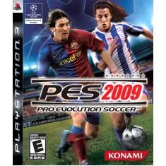 Jogo PES Pro Evolution Soccer 2009 PlayStation 3 Konami