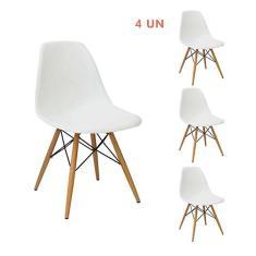 Imagem de Kit 4 Cadeiras Eiffel Sala Jantar Cozinha Escritório Charles Eames
