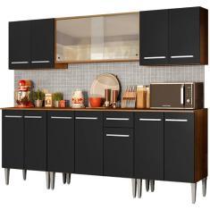 Imagem de Cozinha Completa 1 Gaveta 13 Portas com vidro Emilly Wind Madesa