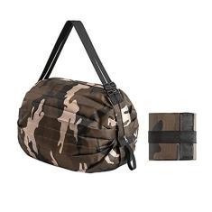 Imagem de SDLAJOLLA Sacolas de compras impermeáveis – Bolsa feminina reutilizável, leve, dobrável, bolsa de compras, durável, rodinhas para armazenamento de presentes femininos de nylon