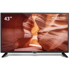 "TV LED 43"" Multilaser Full HD TL023 2 HDMI USB"