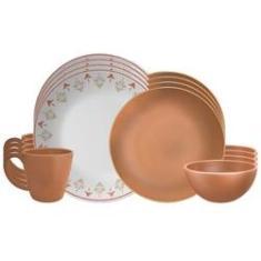 Imagem de Conjunto Jogo De Jantar Completo 16 Peças Imperial Cerâmica