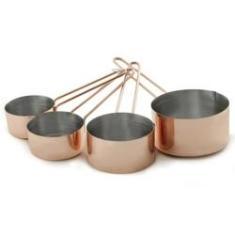Imagem de Jogo com 4 Xícaras Medidoras Inox Bronze